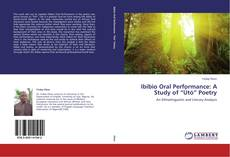 "Bookcover of Ibibio Oral Performance: A Study of ""Ùtó"" Poetry"