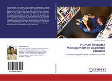 Обложка Human Resource Management In Academic Libraries