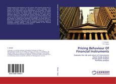 Buchcover von Pricing Behaviour Of Financial Instruments