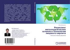 Buchcover von Рециклинг металлургических шлаков в технологии лицевого кирпича