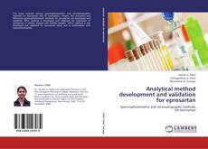 Bookcover of Analytical method development and validation for eprosartan