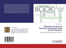 Portada del libro de Effective Vocabulary Teaching Techniques Used by EFL Teachers