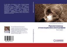 Bookcover of Пролегомены этносоциолексикографии