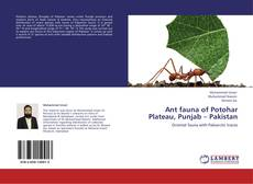 Bookcover of Ant fauna of Potohar Plateau, Punjab – Pakistan