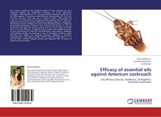 Bookcover of Efficacy of essential oils against American cockroach