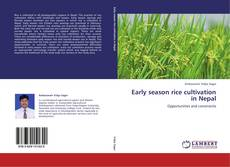 Bookcover of Early season rice cultivation in Nepal