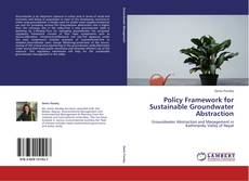 Couverture de Policy Framework for Sustainable Groundwater Abstraction