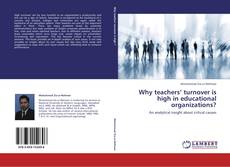 Couverture de Why teachers' turnover is high in educational organizations?