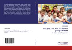 Bookcover of Visual Basic .Net for novice programmers