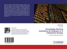 Bookcover of Knowledge Sharing Intentions of Investors in a Collectivist Society