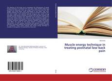 Обложка Muscle energy technique in treating postnatal low back pain