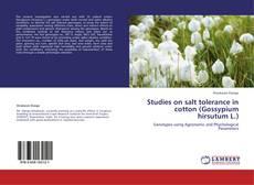 Portada del libro de Studies on salt tolerance in cotton (Gossypium hirsutum L.)