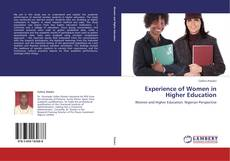 Couverture de Experience of Women in Higher Education