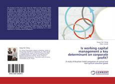 Bookcover of Is working capital management a key determinant on corporate profit?