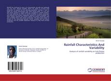 Bookcover of Rainfall Characteristics And Variability
