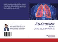 Bookcover of Effect of pleurotomy on lung function after CABG surgery