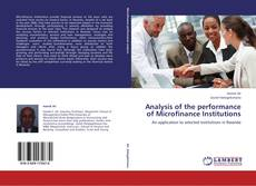 Buchcover von Analysis of the performance of Microfinance Institutions