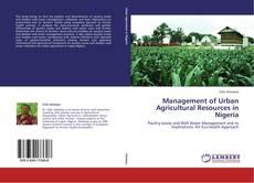 Buchcover von Management of Urban Agricultural Resources in Nigeria