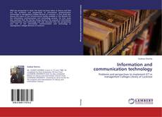 Bookcover of Information and communication technology