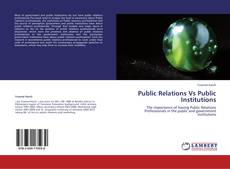 Buchcover von Public Relations  Vs Public Institutions