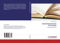 Bookcover of Grammatical Error Correction