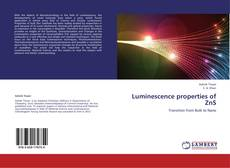 Capa do livro de Luminescence properties of ZnS