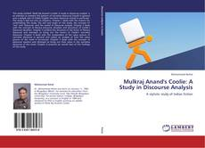 Bookcover of Mulkraj Anand's Coolie: A Study in Discourse Analysis