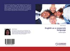 Portada del libro de English as a corporate language