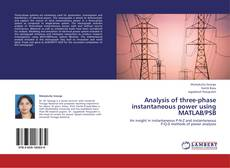 Buchcover von Analysis of three-phase instantaneous power using MATLAB/PSB
