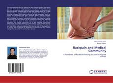 Capa do livro de Backpain and Medical Community