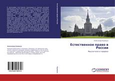 Bookcover of Естественное право в России