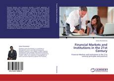 Buchcover von Financial Markets and Institutions in the 21st Century