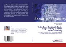 Обложка A Study on Corporate Social Responsibility at Ashok Leyland Company