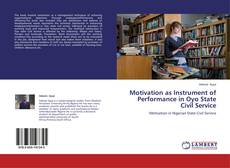 Couverture de Motivation as Instrument of Performance in Oyo State Civil Service