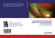 Bookcover of Development Of A Secured Object Oriented Model Of E-learning System