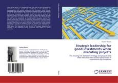 Bookcover of Strategic leadership for good investments when executing projects