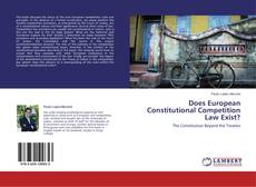 Couverture de Does European Constitutional Competition Law Exist?