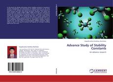 Portada del libro de Advance Study of Stability Constants