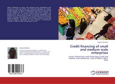 Buchcover von Credit financing of small and medium scale enterprises