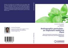 Buchcover von Andrographis paniculata - an important medicinal Plant