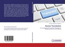 Bookcover of Humor Translation