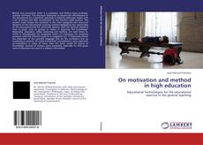 Buchcover von On motivation and method in high education