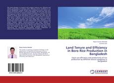 Buchcover von Land Tenure and Efficiency in Boro Rice Production in Bangladesh