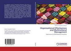 Bookcover of Organizational Effectiveness and Multinational Management