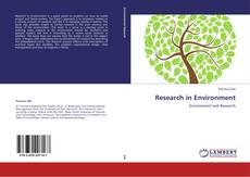 Bookcover of Research in Environment