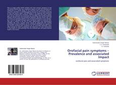 Buchcover von Orofacial pain symptoms – Prevalence and associated Impact
