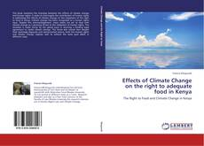 Capa do livro de Effects of Climate Change on the right to adequate food in Kenya