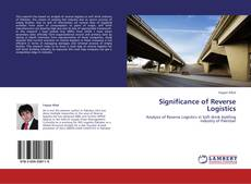 Bookcover of Significance of Reverse Logistics