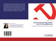 Обложка Governmental Regulation and Its Consequences