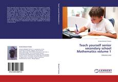 Bookcover of Teach yourself senior secondary school Mathematics volume 1